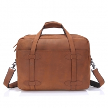 China factory good price real leather weekend travel bag