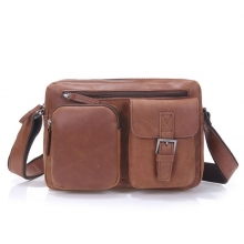 Cheap price good quality sport leather shoulder bag for men