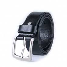 China wholesale price wide black leather belts for men