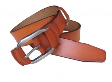 OEM branded good price vintage style man military leather belt