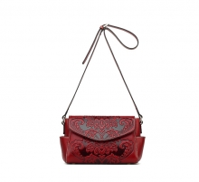 Fashionable new design Chinese style leather shoulder bags for women