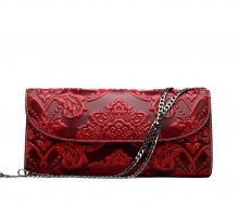 2017 new arrival Chinese style cowhide envelope evening clutches for ladies