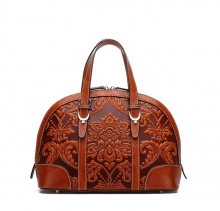 Big brand design Chinese style genuine leather handbags womens tote bags for sale