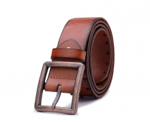 2016 fashion design mens vintage rivets brown leather belts