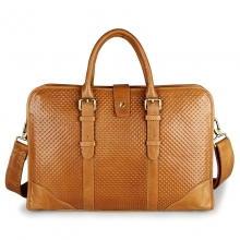 Oem good quality real leather business briefcase bag for men