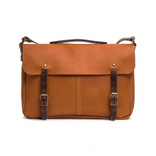 China factory cheap price vintage tan leather designer messenger bags for men