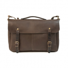 Customer design brown genuine leather bike sport messenger bag