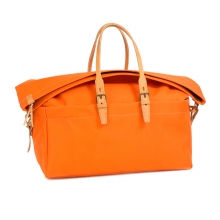 Factory price good quality orange canvas travel bag for over night