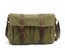 China wholesale price thick canvas messenger school bag for men