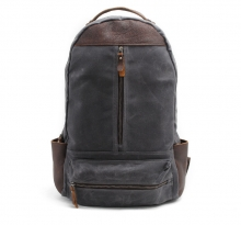 New design vintage style waterproof waxy canvas laptop backpack for school boy