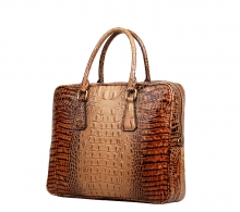 Factory price luxury design croc print leather tote handbag for business men