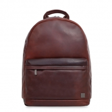 Newest design vintage style reddish brown real leather backpack for men
