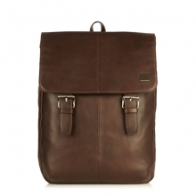 Hot selling good quality urban design brown leather laptop backpack