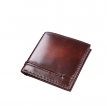 Good quality vintage unique real leather credit card wallet for men