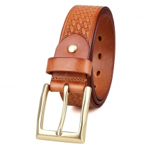 China factory price good quality leather belt custom design full grain leather belt for men