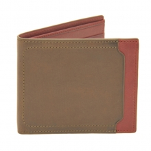 High quality good price men's genuine leather rfid wallet