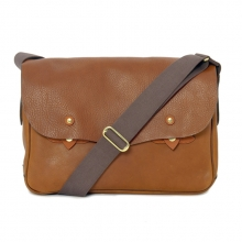 Big brand design vintage real leather messenger bag for men