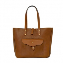 New design vintage style custom full grain leather tote bag for women