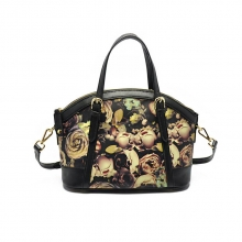 OEM ODM beautiful flowers custom designer leather tote bags