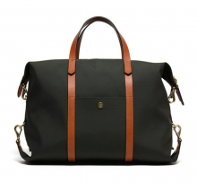 New arrival fashion 16Oz canvas leather travel duffle bag