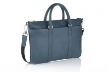 Factory price calf leather tote briefcase laptop bag for busines men
