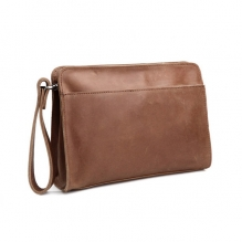 Classical design vintage style genuine leather men's clutch bag