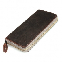 Classical design branded rfid blocking genuine leather zipper wallet for iphone case