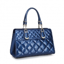 Best selling christmas day gift lady fashion shiny genuine leather bag