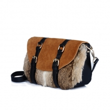 Guangzhou factory high quality winter fur leather small bag for girls