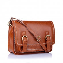 Hot selling korea style handmade vintage leather cross body bag for girls