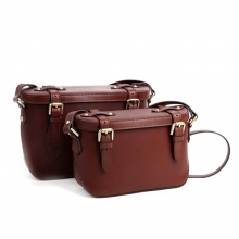 Newest design korea vintage style lady leather shoulder bag