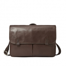 Top designer vintage style custom waterproof mens leather messenger bag