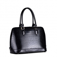 Wholesale famous brand mk crocodile pattern cow leather handbag for women china