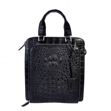 Classical design daily use small size black crocodile leather men handbag factory