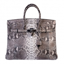 Big brand luxury design custom genuine python skin tote bag for lady