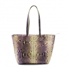 Factory oem design high quality genuine python skin women's leather shoulder bag