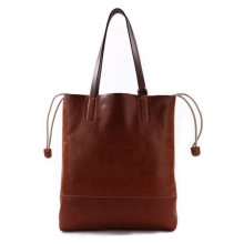Cheap price good quality vintage real leather tote shoulder bag for women