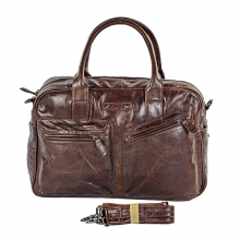Factory wholesale good price vintage leather business shoulder messenger bag for men