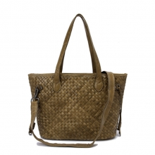 Big brand designer good quality luxury lady fashion weave leather shoulder bag
