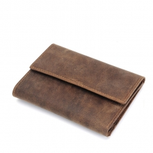 Wholesale price high end true leather smart magic travel wallet