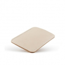 Durable simple design blank vegetable tanned leather id card holder
