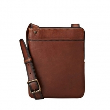 Big brand design oem logo mens leather shoulder bag