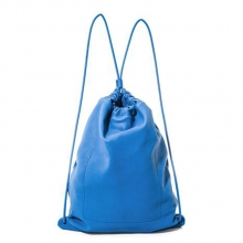 Simple design jansport drawstring blue lamb skin sports backpack