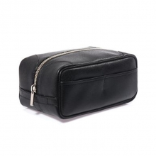 OEM design good quality genuine leather travel wash bag on sale