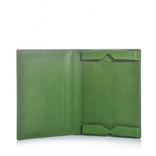 Wholesale cheap price green leather ipad case for gift