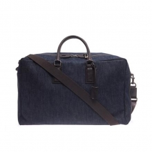 China factory over size denim fabric canvas leather duffle bag for traveling