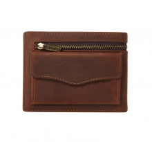 Best price cool design brown genuine leather coin holder card wallet for men