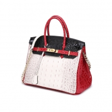 Wholesale price good quality branded designer handbag crocodile pattern leather women purse