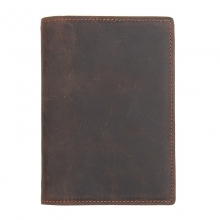 Cheap price OEM design vintage brown crazy horse leather passport holder passport cover