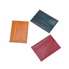 China factory cheap price promotion gift genuine leather slim RFID credit card holder